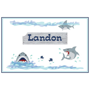 Personalized Placemat with Shark Tank design