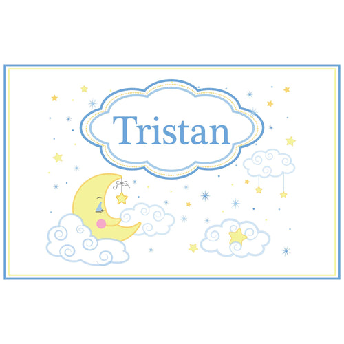 Personalized Placemat with Moon and Stars design