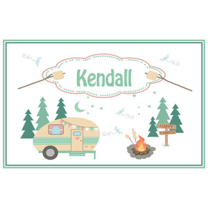 Personalized Placemat with Camp Smores design