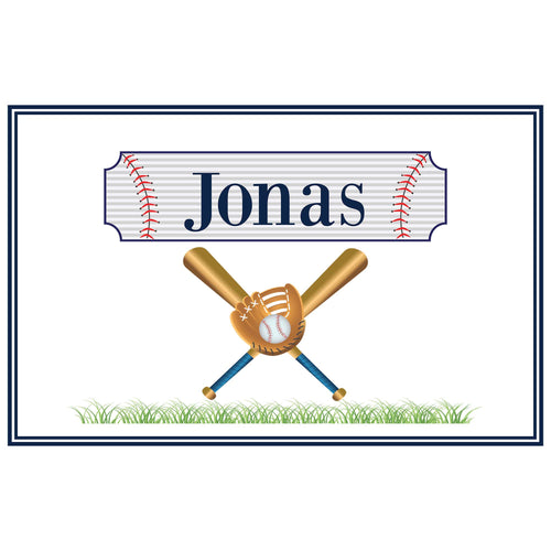 Personalized Placemat with Baseball design