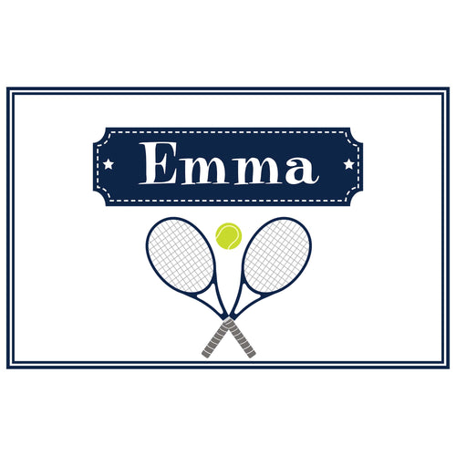 Personalized Placemat with Tennis design