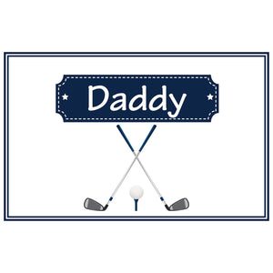 Personalized Placemat with Golf design