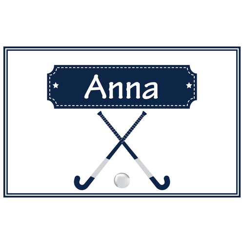 Personalized Placemat with Field Hockey design