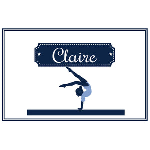 Personalized Placemat with Gymnastics design
