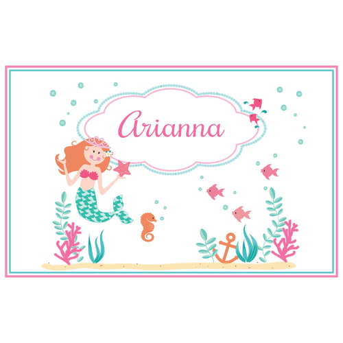 Personalized Placemat with Mermaid Princess design