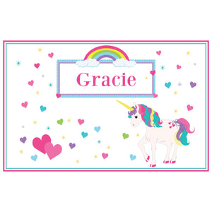 Personalized Placemat with Unicorn design