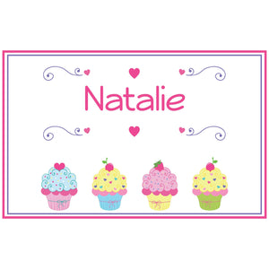 Personalized Placemat with Cupcake design