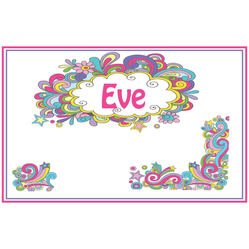 Personalized Placemat with Groovy Swirl design