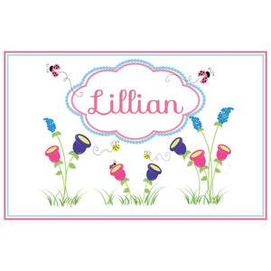 Personalized Placemat with English Garden design