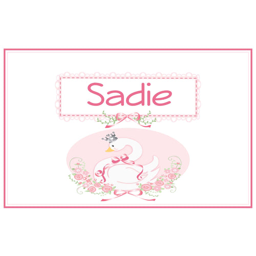 Personalized Placemat with Swan design