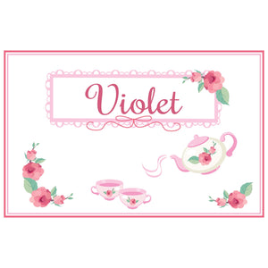 Personalized Placemat with Tea Party design