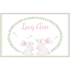 Personalized Placemat with Classic Bunny design
