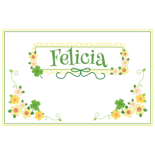 Personalized Placemat with Shamrock design