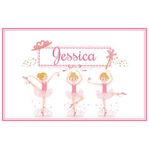 Personalized Placemat with Ballerina Blonde design