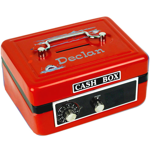 Personalized Shark Tank Childrens Red Cash Box