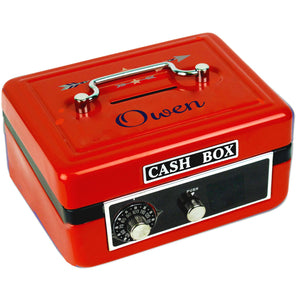 Personalized Tribal Arrows Boy Childrens Red Cash Box
