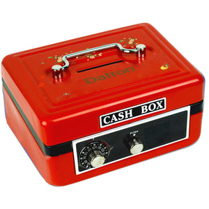 Personalized Monkey Boy Childrens Red Cash Box