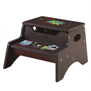 Asian SuperheroEspresso Kidkraft Step N Store Stool