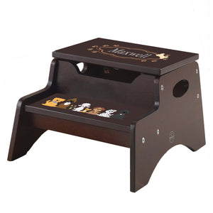 All Dogs Espresso Kidkraft Step N Store Stool