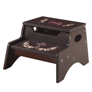 Blush Floral Cross Garland Espresso Kidkraft Step N Store Stool