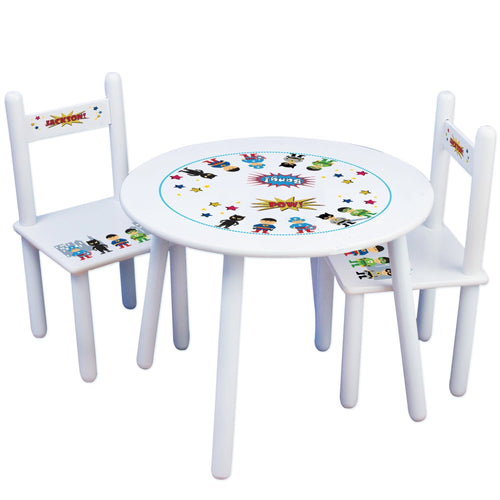Personalized Table and Chairs Asian Superhero