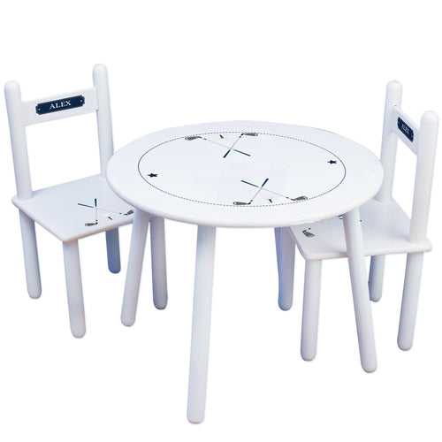 Personalized Table and Chairs with Golf design