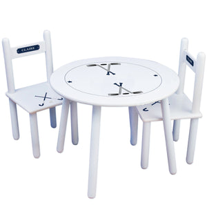 Personalized Table and Chairs with Field Hockey design