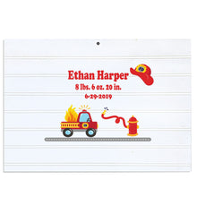 Custom Vintage Nursery Sign - Firetruck