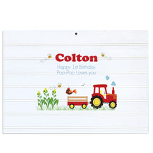 Custom Vintage Nursery Sign - Red Tractor