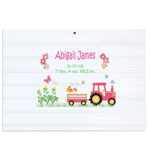 Custom Vintage Nursery Sign - Pink Tractor