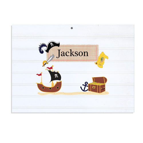 Personalized Vintage Nursery Sign with Pirate design