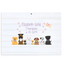 Custom Vintage Nursery Sign - Pink Dogs