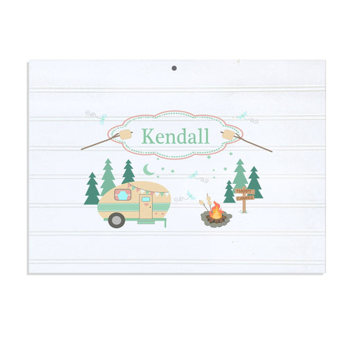 Personalized Vintage Nursery Sign with Camp Smores design