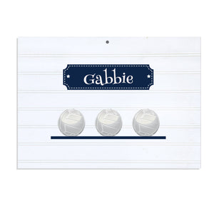 Personalized Vintage Nursery Sign with Volley Balls design