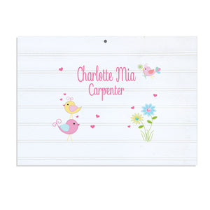 Custom Vintage Nursery Sign - Love Birds