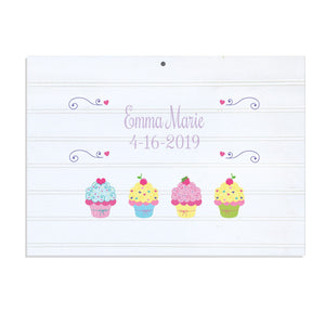 Custom Vintage Nursery Sign - Cupcake