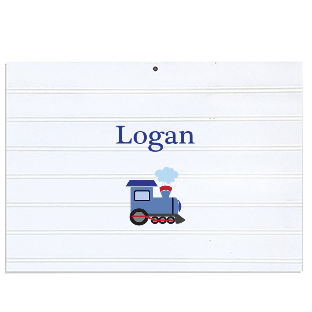 Personalized Vintage Nursery Sign with Single Train design