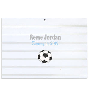 Custom Vintage Nursery Sign - Single Soccer