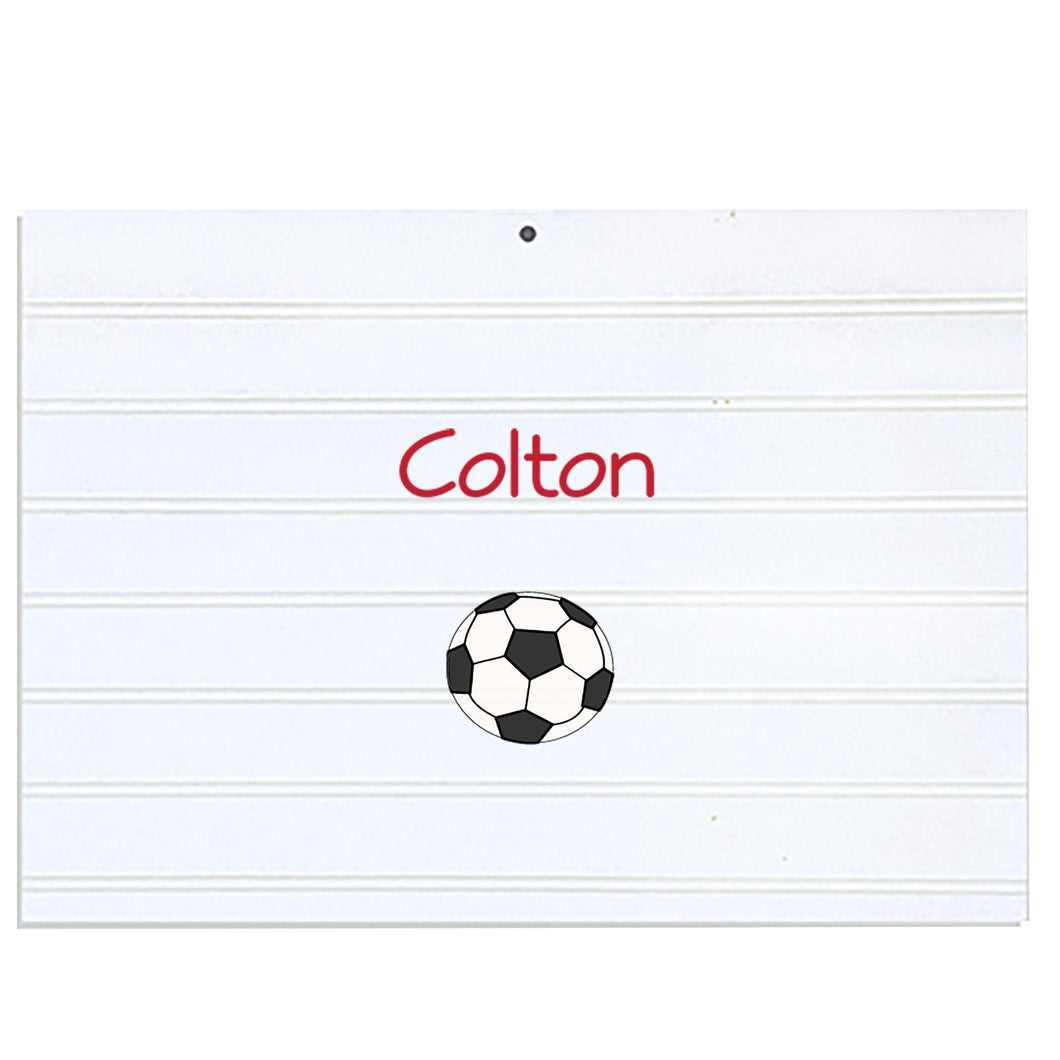 Personalized Vintage Nursery Sign with Single Soccer design