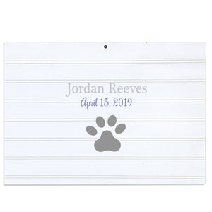 Custom Vintage Nursery Sign - Single Paw Print