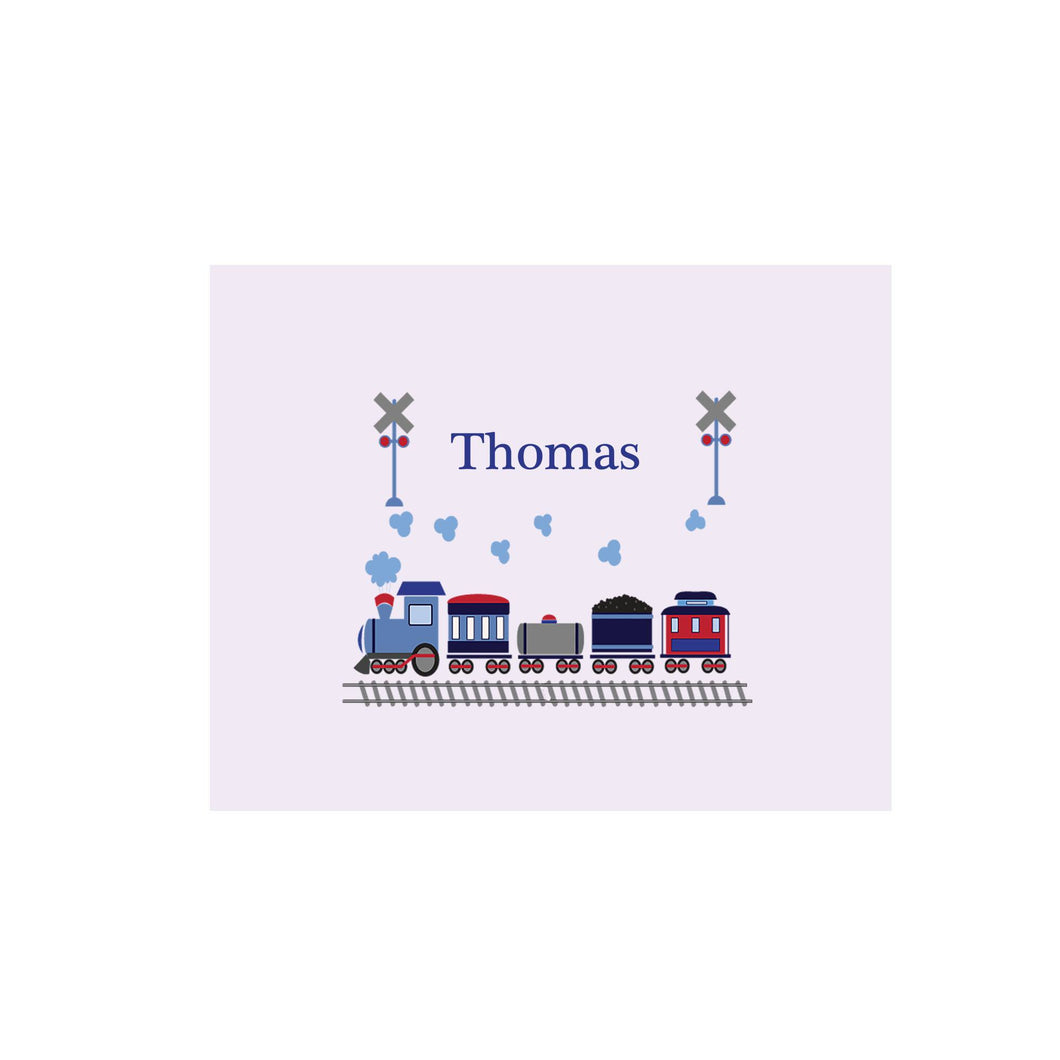Personalized Wall Canvas with Train design