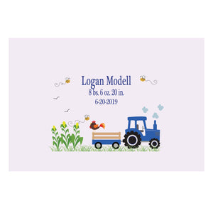 Custom Wall Canvas - Blue Tractor