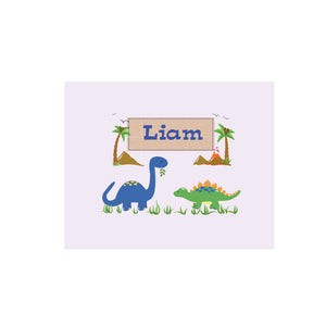 Personalized Wall Canvas with Dinosaurs design