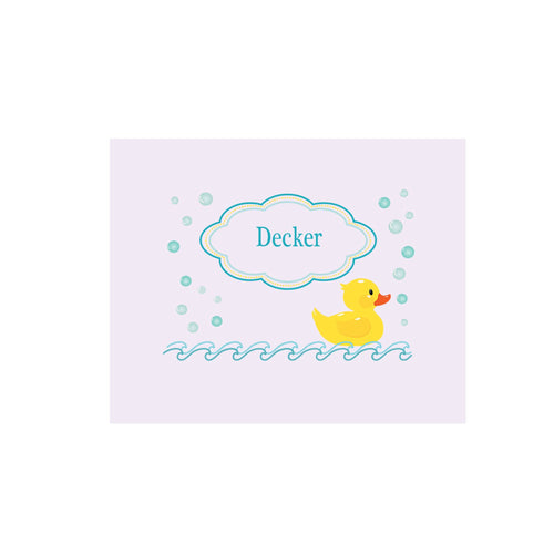 Personalized Wall Canvas with Rubber Ducky design