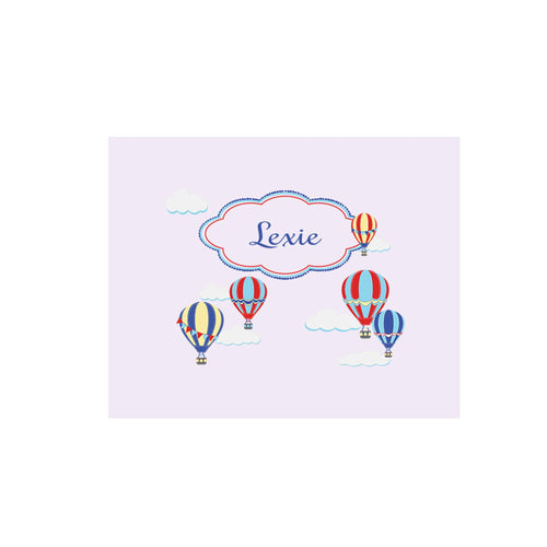 Personalized Wall Canvas with Hot Air Balloon Primary design