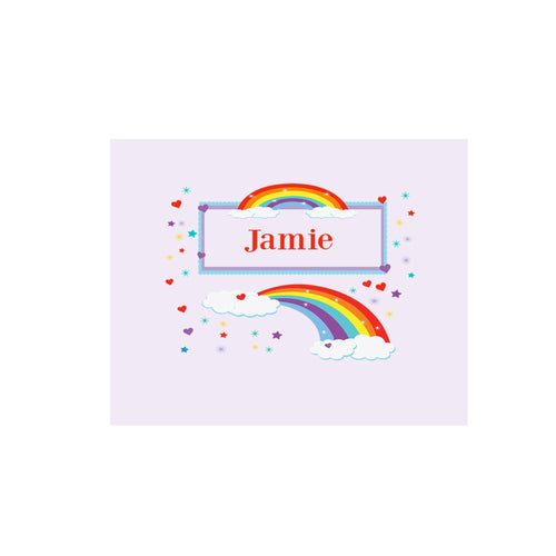 Personalized Wall Canvas with Rainbow design