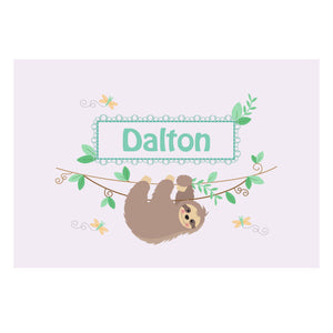 Personalized Wall Canvas with Slothie design