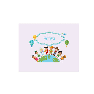 Personalized Wall Canvas with Small World design