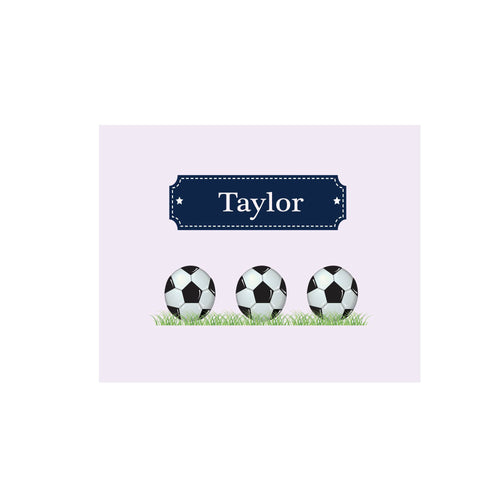 Personalized Wall Canvas with Soccer Balls design