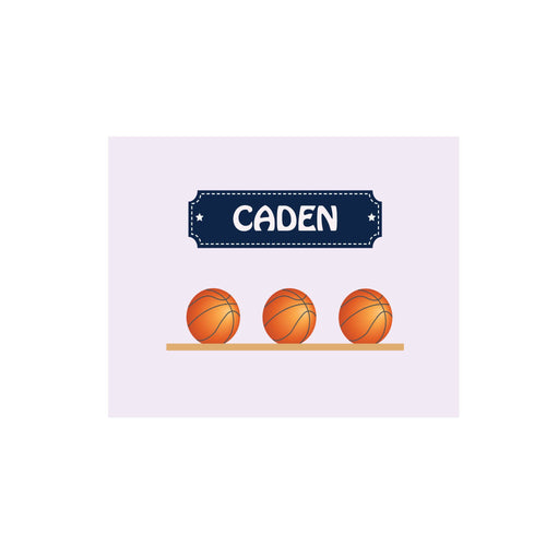 Personalized Wall Canvas with Basketballs design